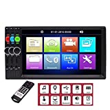 7 inch Double Din in Dash Car Stereo Car MP5 Player Bluetooth Capacitive Touch Screen FM Radio USD SD Aux Automitive Car Head Unit Entertainment System 2 din Video Player with Remote Control