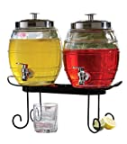 Style Setter Pub Glass Beverage Dispenser Set with Stand