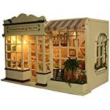 Rylai 3D Puzzles Wooden Handmade Miniature Dollhouse DIY Kit w/ Light -Sweet Berries Time Series Dollhouses accessories Dolls Houses With Furniture & LED & Music Box Best Birthday Gift