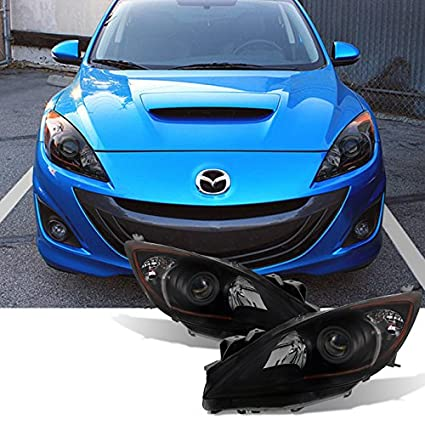 For [Halogen Type   Black Smoke] 2010 2011 2012 2013 Mazda 3 Mazda3  Projector