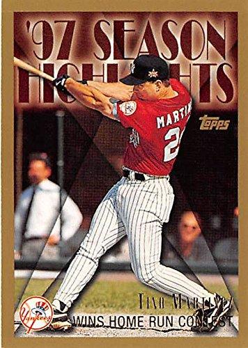 (Tino Martinez baseball card (New York Yankees) 1998 Topps #269 Highlights Home Run Derby Champion)