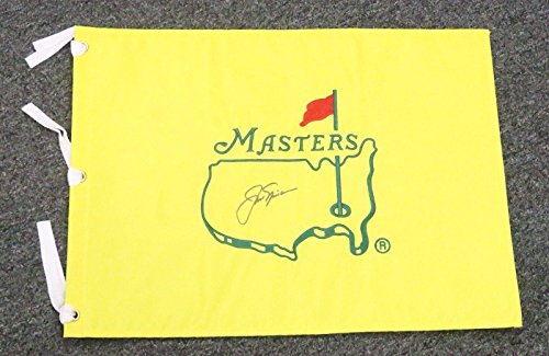 22050 Jack Nicklaus Signed Masters Golf Pin Flag Autograph 13x17 LOA - PSA/DNA Certified - Autographed Pin Flags