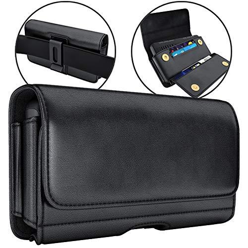 De-Bin Belt Holster Case Designed for iPhone 11 Pro Max Phone Holster Case, iPhone Xs Max/ 7+ / 8+/ 6s+/ 6+ Belt Case…