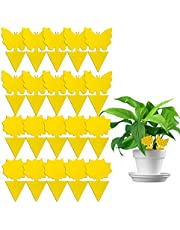 Yellow Sticky Traps, 20 Pcs Sticky Fruit Fly and Plant Gnat Bug Trap for Indoor/Outdoor Use - Insect Catcher for White Flies, Mosquitos, Fungus Gnats, Flying Insects - Disposable Glue Trappers
