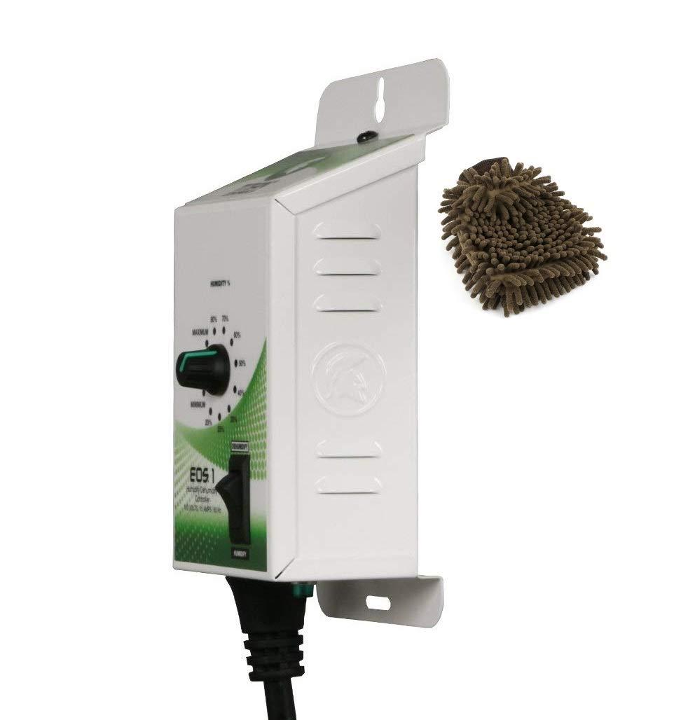 Titan Controls 702605 Humidity Controller, EOS 1, 120V (Complete Set) w/Bonus: Premium Microfiber Cleaner Bundle by Titan Controls