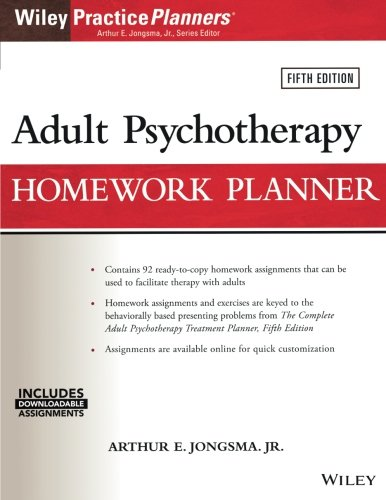 Adult Psychotherapy Homework Planner, 5th Edition (PracticePlanners) by Wiley