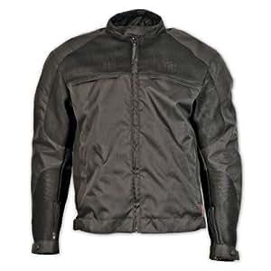 Milwaukee Motorcycle Clothing Company Mesh Scooter Jacket (Black, Medium)