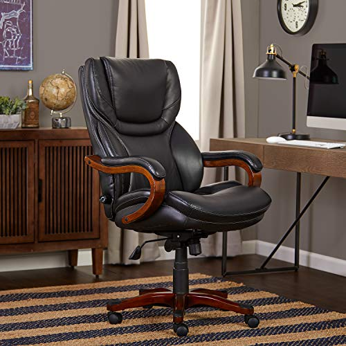 - Serta Executive Office Chair in Black Bonded Leather