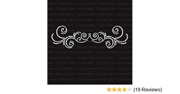 Amazon.com: Embellish Design E1 Iron On Rhinestone Crystal T-Shirt Transfer by JCS Rhinestones