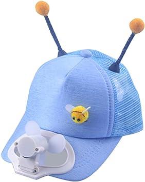 Morran Gorra de béisbol Sombrero de béisbol Fan de energía Solar,Camping Senderismo Gorra de Pico con Ventilador Abanico Hat Gorra de Ventilador de enfriamiento para niños niña: Amazon.es: Deportes y aire libre