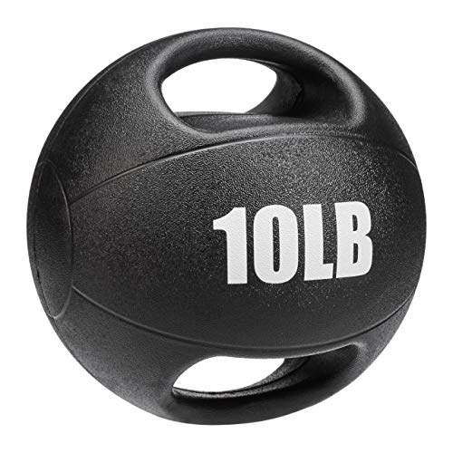 AmazonBasics Medicine Ball with Handles, 10-lb