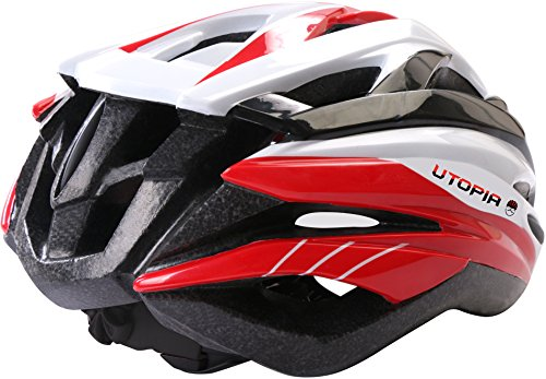 Bicycle Helmet Aerodynamic Lightweight Adults Kids Boys Girls PVC Shell Helmet By Utopia Home