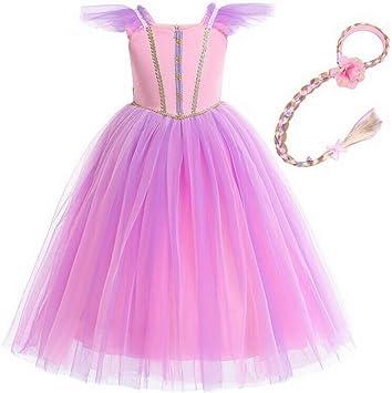 Disfraz de Princesa Aurora Rapunzel para Halloween, niña, Rosa ...