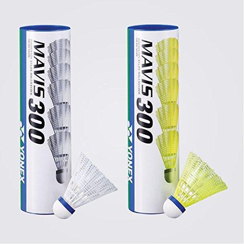 Yonex Mavis 300 White Nylon Shuttlecocks 1/2doz (Yonex Cap)