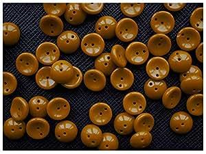 30stk Piggy–Impresión Checa Perlas con dos agujeros de cúpula bombilla 4x 8mm Light Brown Opaque (Chestnut)