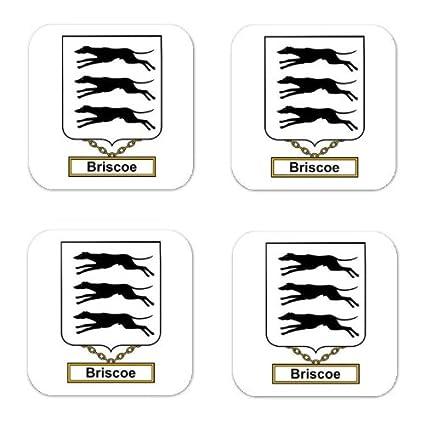 Amazon.com: Briiscoe Or Brisco Family Crest Square Coasters Coat of ...