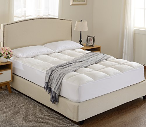 Cheer Collection Super Luxurious Ultra Soft Overfilled Microplush Fitted Mattress Topper - (Thick Contour Padding)