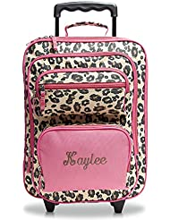 Leopard Spots Personalized Kids Rolling Luggage - 5x12x16H, Kids Travel Bag