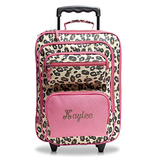 Kids Personalized Luggage - Leopard Spots Personalized Kids Rolling Luggage - 5