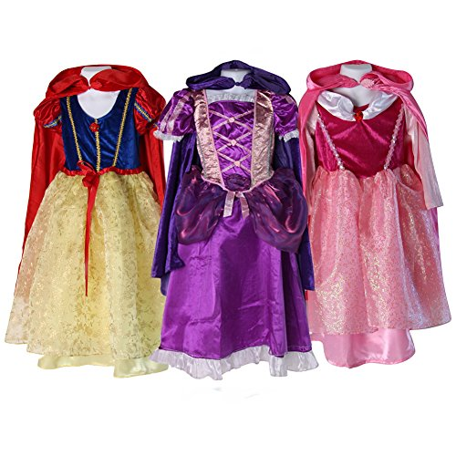Storybook Wishes Deluxe Princess Dress & Hooded Cloak (2/4, 3 Pack Princess) (Storybook Costume)