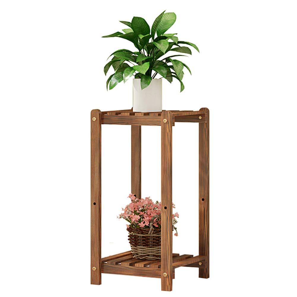 Legno Fiore Stand Rack 2 3 Ripiani Plant Flower Wood Plant Ladder Scaffale Bonsai Display Multifunzione Angolo Organizer Portaoggetti per Indoor Outdoor Patio Balcone Decorazione,252850CM