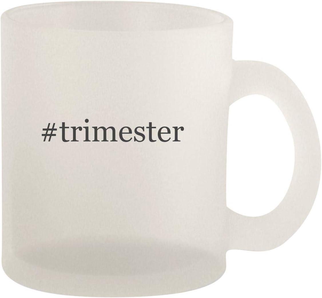 #trimester - Glass 10oz Frosted Coffee Mug