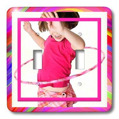 3d Rose 3dRose LLC lsp_18337_2 Hula Hoop Girl Double Togg...