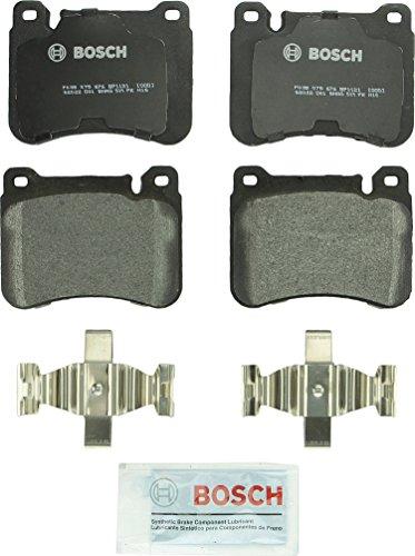 Bosch BP1121 QuietCast Premium Semi-Metallic Disc Brake Pad Set For Mercedes-Benz: 2004-2007 C230, 2002-2004 C240, 2006 C280, 2002-2005 C320, 2006-2009 CLK350, 2006-2011 SLK350; Front