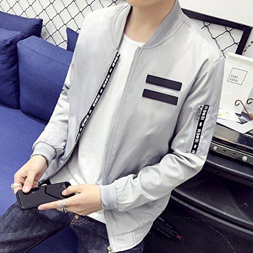 hombres sólido versión versión de La G la Camisetas chaqueta 1862 jóvenes primavera hombres de de XXL uniforme de coreana la adelgazar la cigarro de color marea hombres coreana chaquetas gris Bq8qUd