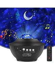 LED Sterlicht Projector,LED Star Projector Lights,Projectorlamp met sterrenhemel,met 10 modi,afstandsbediening,bluetooth luidspreker en timer voor kinderkamer,feestjes,geschenken