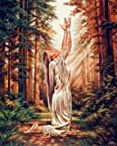 Indian Maiden Praying in the Woods Native American Art Print Poster (8x10)