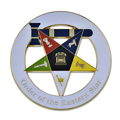 - Order of the Eastern Star Matron White Masonic Auto Emblem - 3