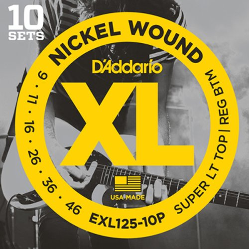 D'Addario EXL125-10P Nickel Wound Electric Guitar Strings, S
