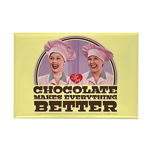 (CafePress I Love Lucy: Chocolate Makes Ever Rectangle Magnet, 2