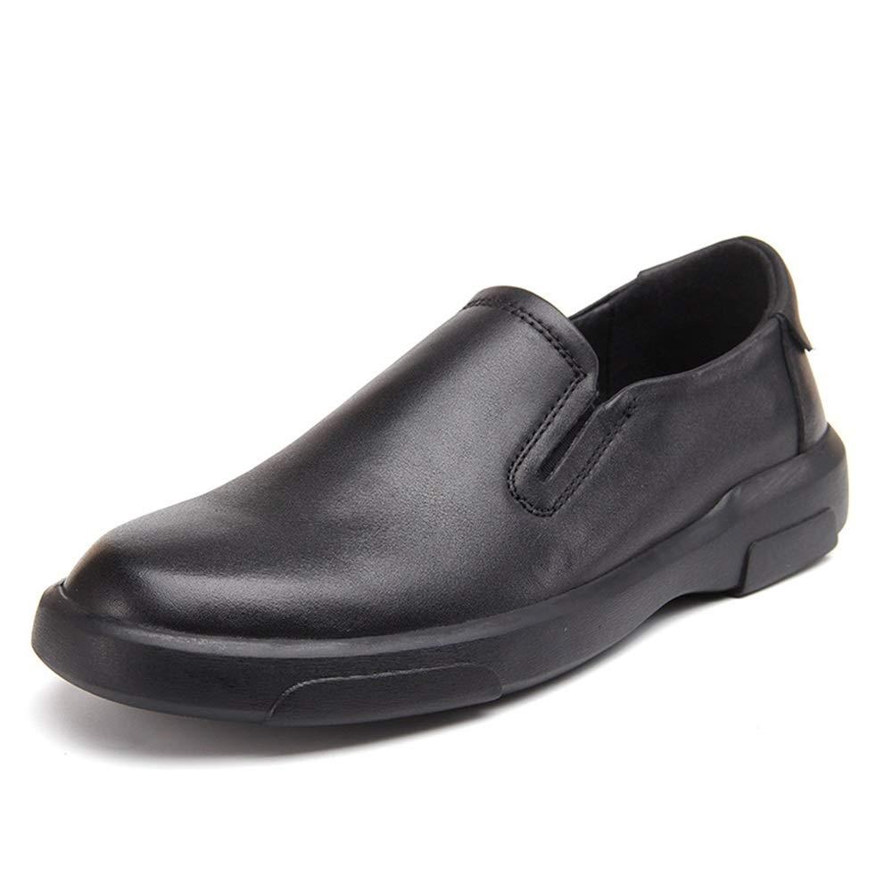 Qiusa Herren Slip on Driving Sohle Schuhe weiche Sohle Driving atmungsaktiv große Größen Durable ComfGoldtable Loafers (Farbe   Schwarz, Größe   EU 44) a94520