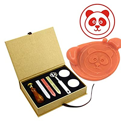 ZOVEE Custom Animals Theme Wax Seal Stamps Kit Brass Heads Envelope Sealing Wax Stamps