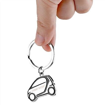 ONEVER Llavero en forma de coche con logotipo: Amazon.es ...