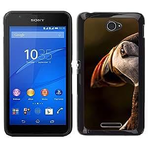 [Neutron-Star] Snap-on Series Teléfono Carcasa Funda Case Caso para Sony Xperia E4 [Bird Sunset Cute Ornithology Nature]