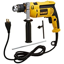 Dewalt DWE5010R 7 Amp 1/2 in. VSR Single Speed Hammer Drill Kit (Renewed)