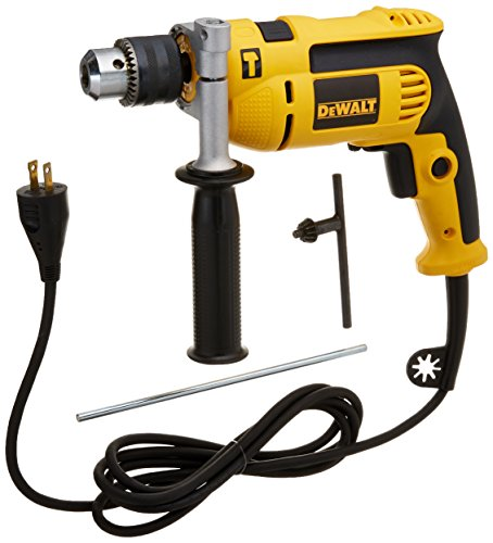 Dewalt DWE5010R 7 Amp 1/2 in. VSR Single Speed Hammer Drill Kit (Certified Refurbished) (Single Speed Impact Drill)