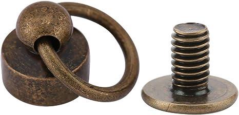 20x Solid Brass Button Stud Screw Nail Screw Rivet Leather Belt Handbag DIY