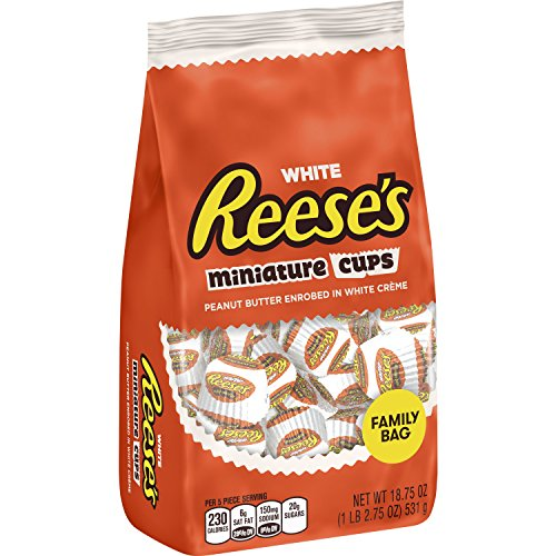 White Reese's Miniature Cups 18.75 oz. Family