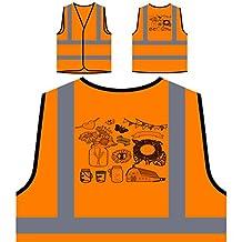 I Love You Wedding Novelty Glass Jars Vintage Art Personalized Hi Visibility Orange Safety Jacket Vest Waistcoat a133vo