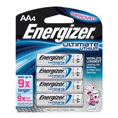 Energizer® Ultimate® e2® 1.5 Volt AA Cylindrical Lithium Battery (4 Per Card) ()