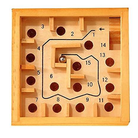 Fridolin GmbH Labyrinth-Spiel, Holz, Geduldspiel, Geschicklichkeit