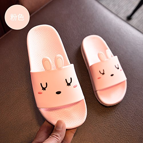 slippers female non Rabbit bottom cute fankou slippers stay plastic The thick indoor slip bath cat slippers soft Pink a bathroom home summer has 37 cool IqAwxZ1Rrq