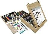 Royal & Langnickel 150 Piece Art Easel Set Oil Acrylic Watercolour Paints Pencils & Brushes