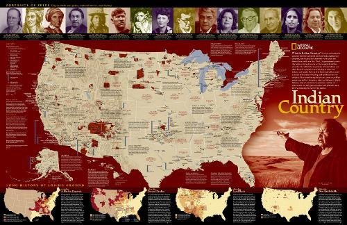 Indian Country [Tubed] (National Geographic Reference Map)