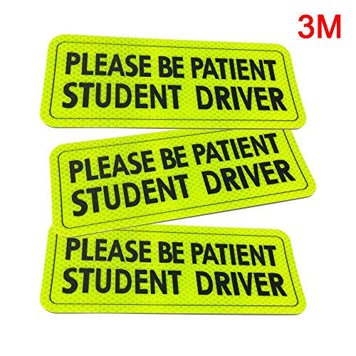 Top student driver sticker for car window