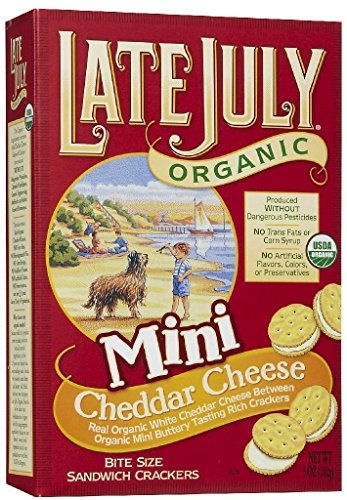 Late July Org Mini Cheddar Cheese Bite Size Crackers